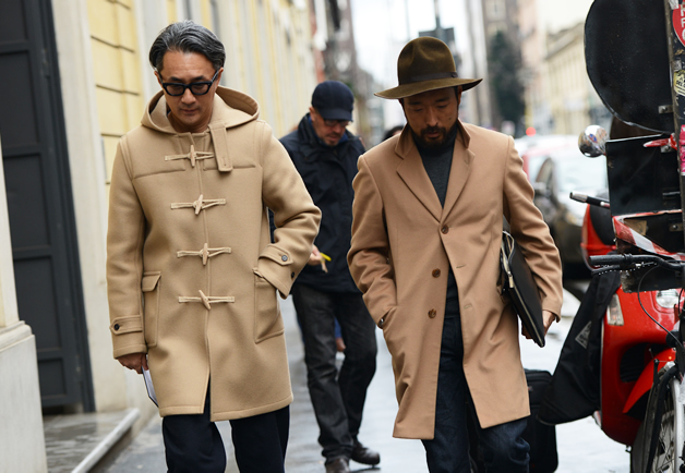 custom men's camel coat