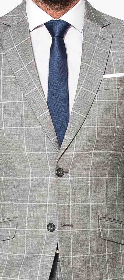 Grey Checked Wool