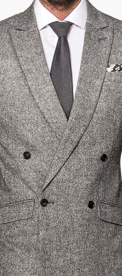 Grey Double Tweed Details