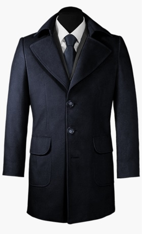 Blue Cashmere Wool Coat