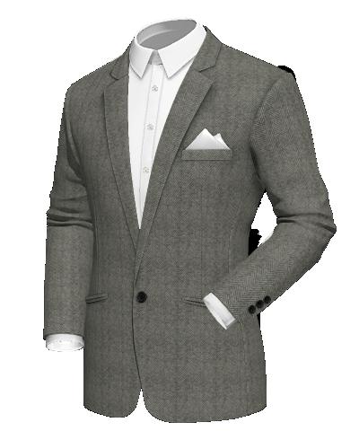 Grey Herringbone blazer