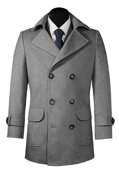 grey hockerty pea coat