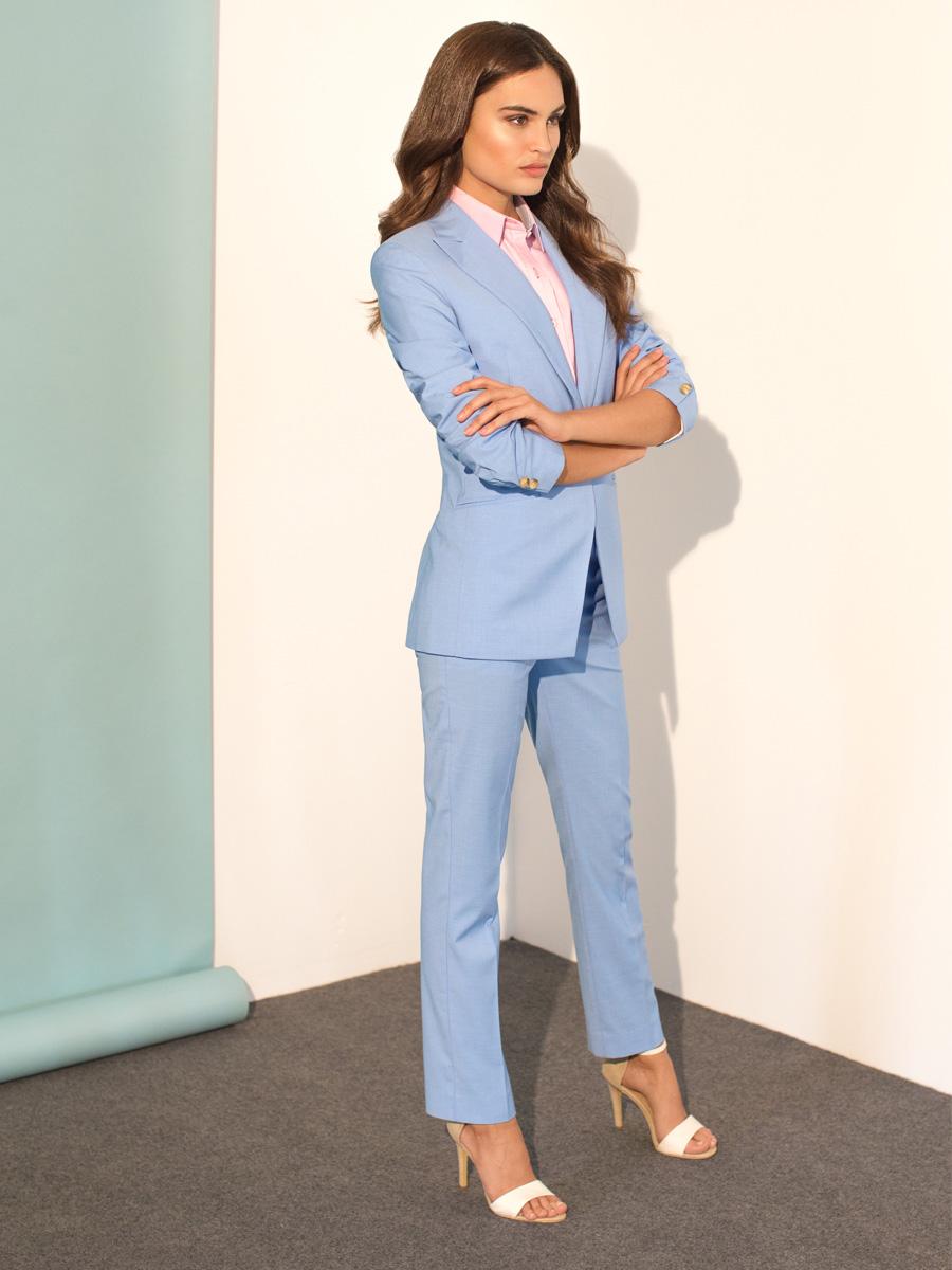 business formal blue suit