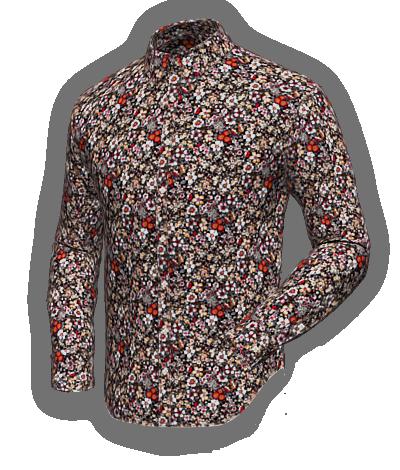 Black Floran cotton shirt