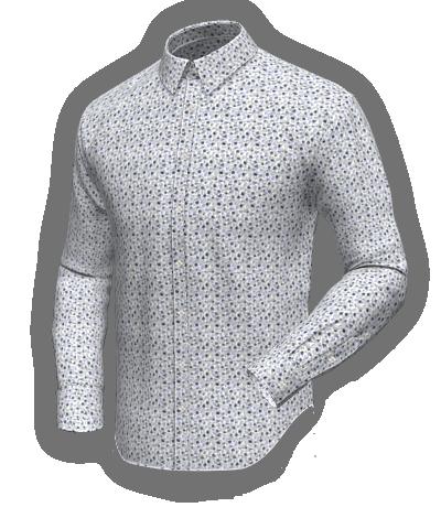 blur floral cotton shirt