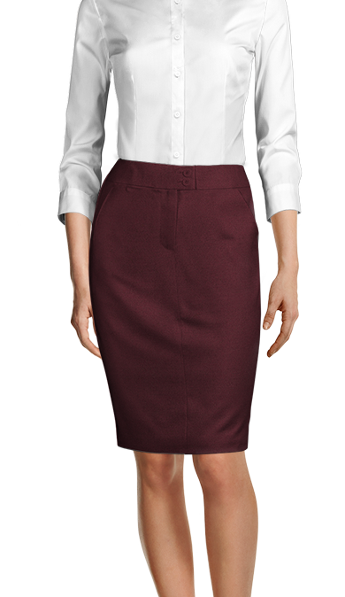 burgundy wool skirt