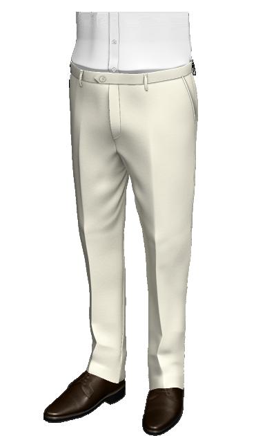 Beige slim fit wool Pants