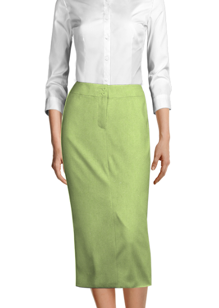 Green 100% cotton Skirt