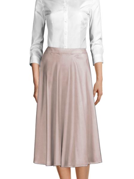 Pink 100% Polyester Skirt