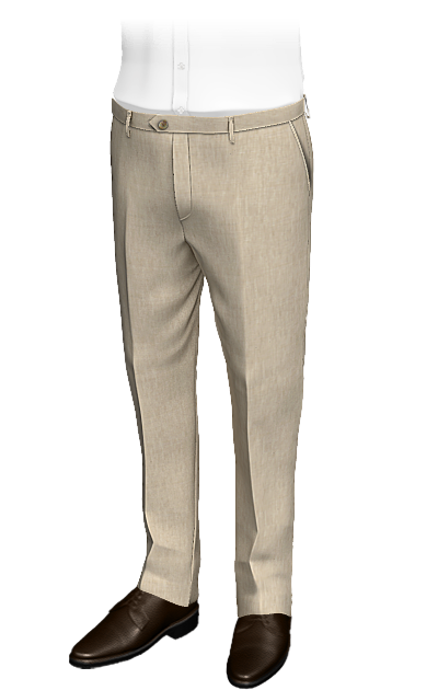 beige slim fit linen pants