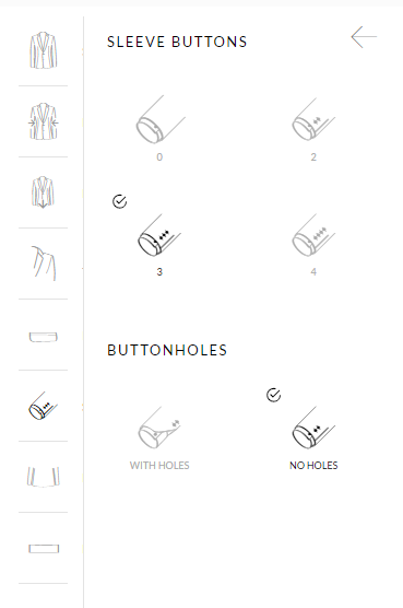 sleeve buttons customization