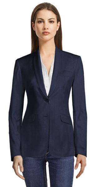 Blue pinstriped blazer
