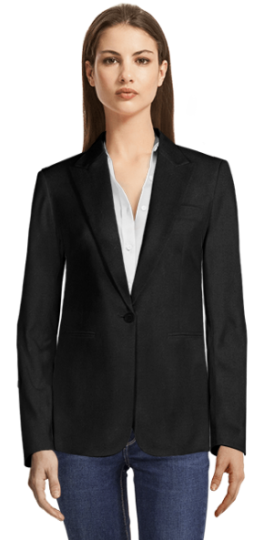 Black blazer with wide lapels