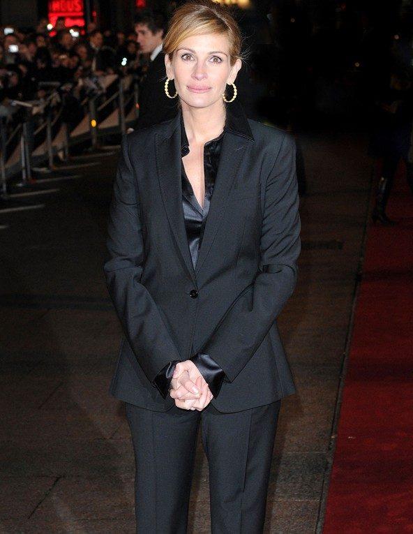 black wide suit