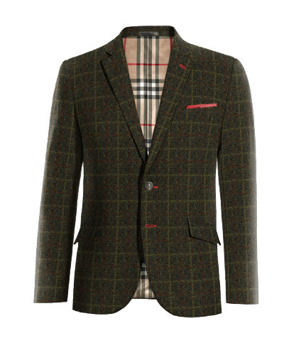 green checked tweed blazer