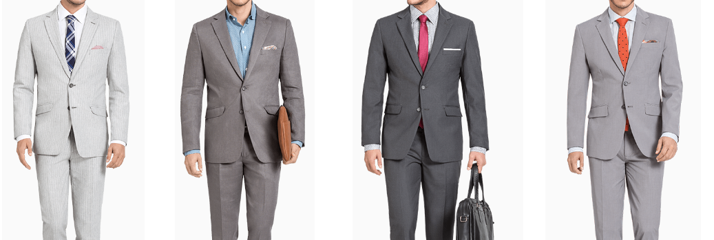 What Color Shirts to Wear With a Grey Suit