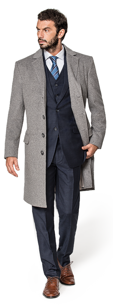 men grey coat