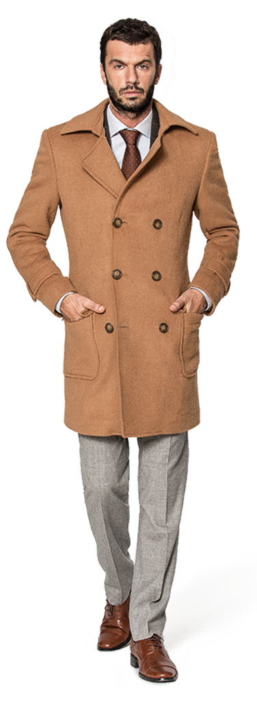 men camel coat