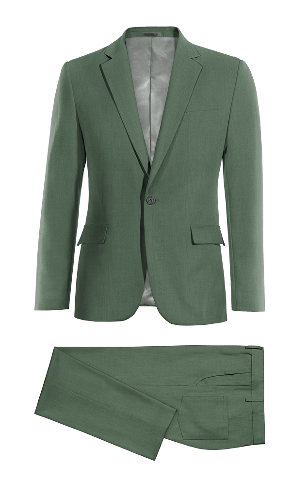 gtreen wool suit
