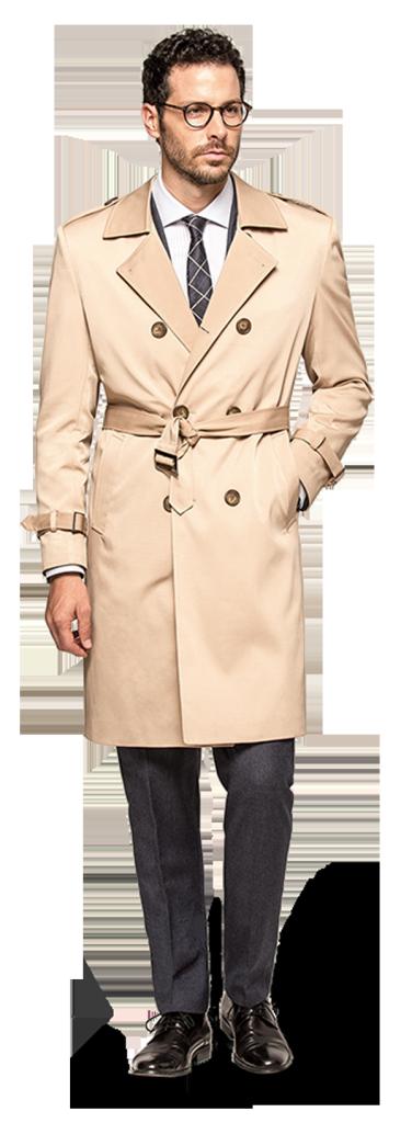 beige trenchcoat