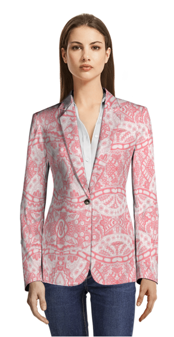 Pink Blazer without pockets and with metal buttons