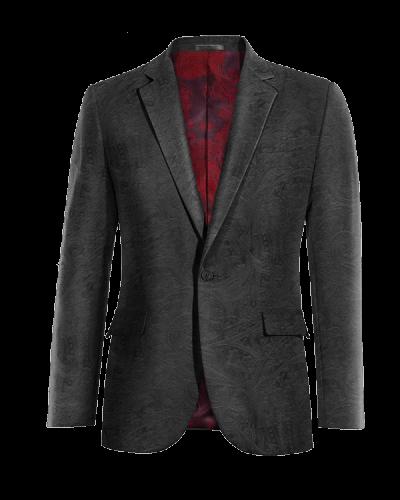 black paisley velvet blazer