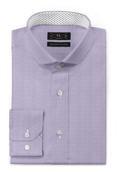 purple oxford shirt