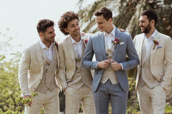 The Perfect Beach Wedding Suit: Linen Suit