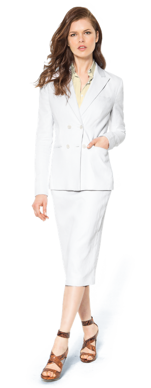 White Skirt Suit