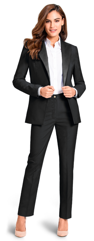 Women Business Tuxedo in Black