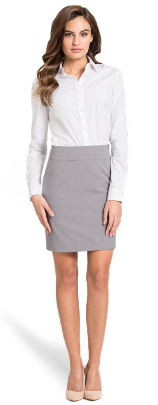 Grey Business Skirt