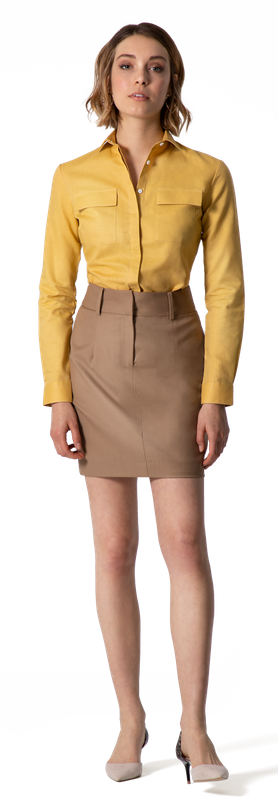 Mustard Women Business Shirt