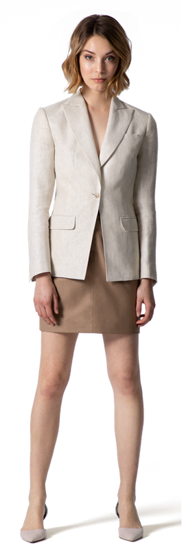 Beige Skirt Suit