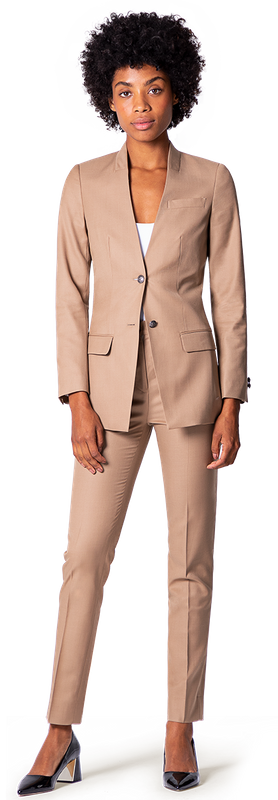 Beige Women Business Pant Suit