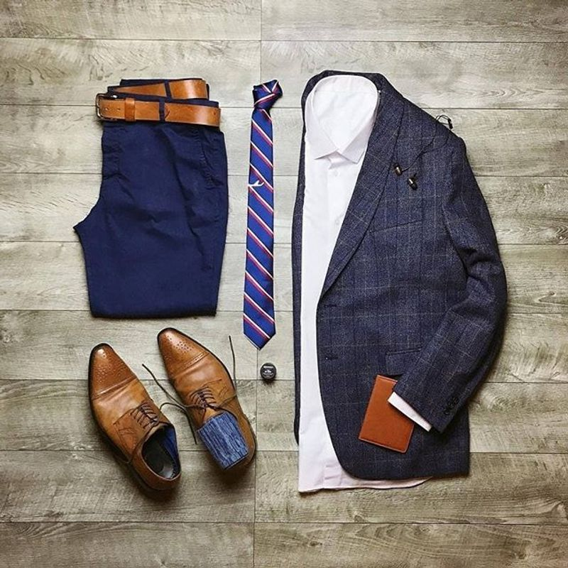 How to Combine Your Blue Suit with Brown Shoes