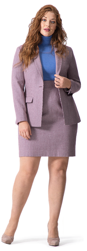 Pink Skirt Suit