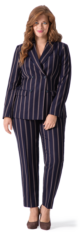 Blue Striped Pant Suit