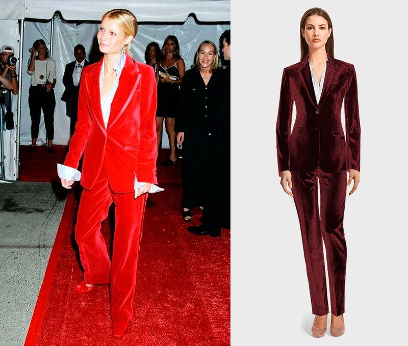 burgundy velvet suit