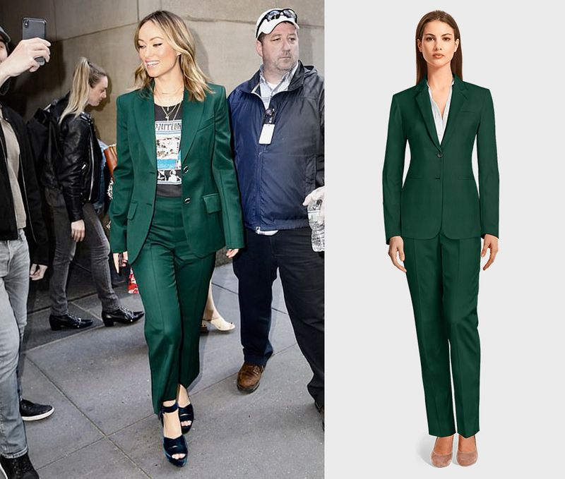 green women pant suit