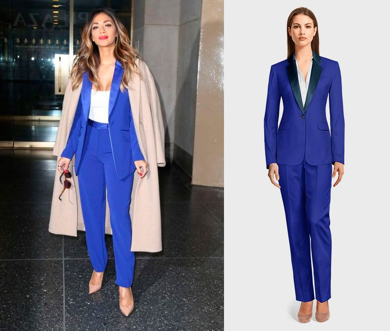 Electric blue woman suit