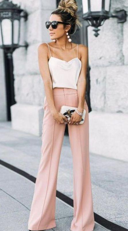 pantalones anchos rosados
