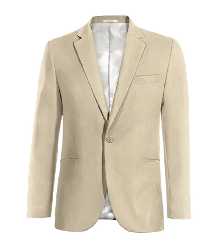 1 button suit jacket