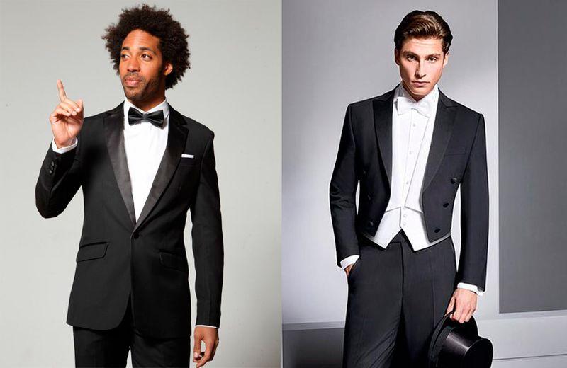 Black tie versus white tie attire