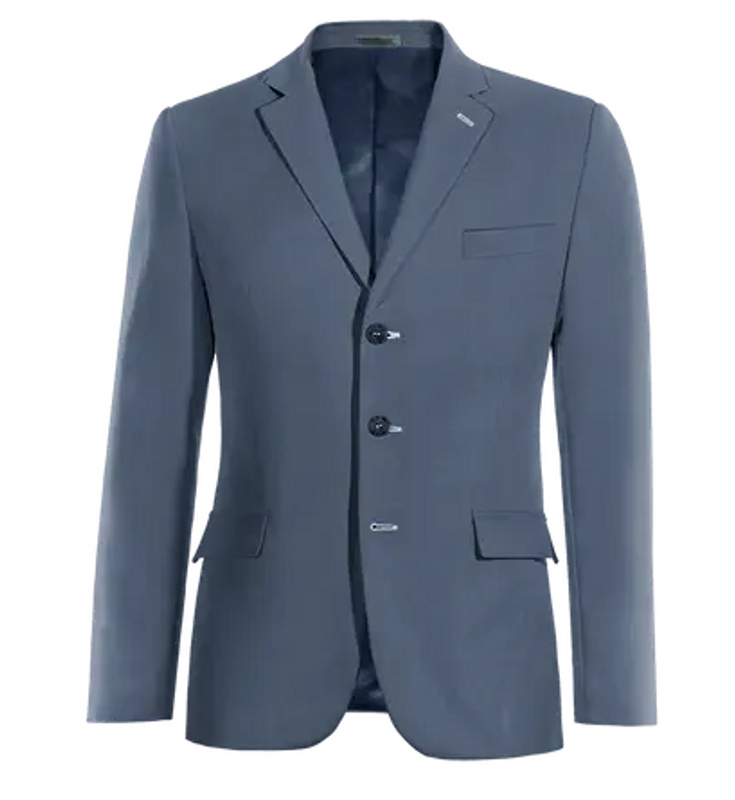 3 button suit jacket