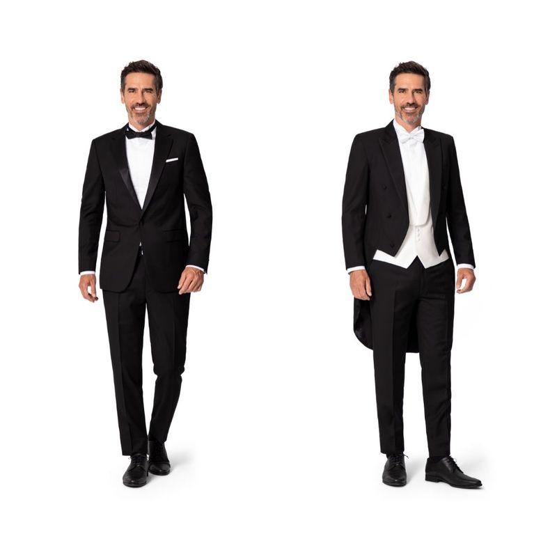 corbata negra corbata blanca vestimenta