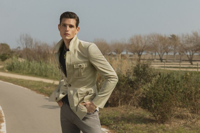 beige field military jacket