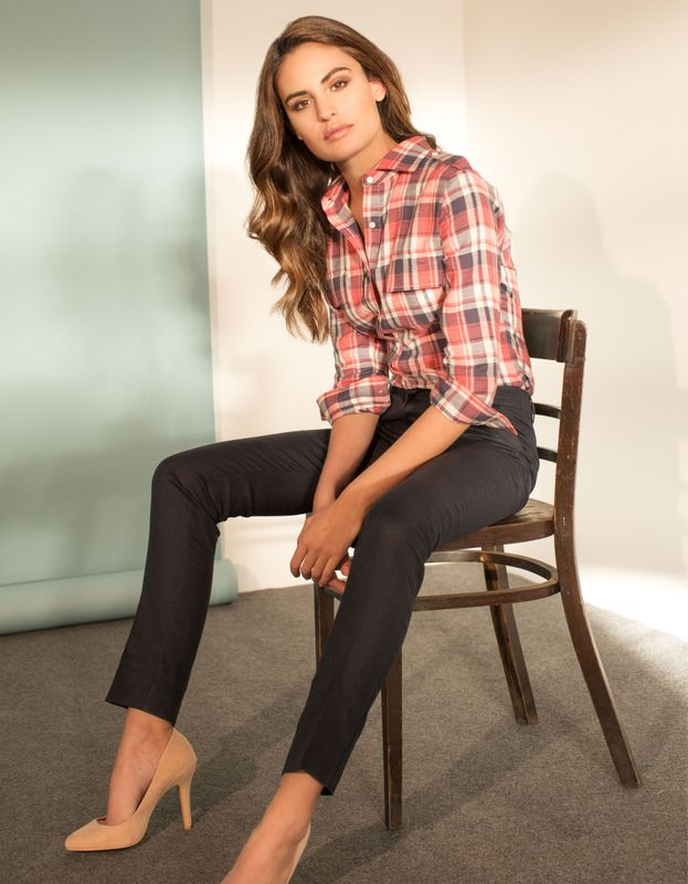 women plaid flannel shirt
