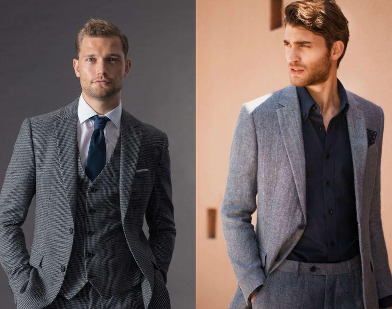 ¿De qué color son las camisas para un traje gris?
