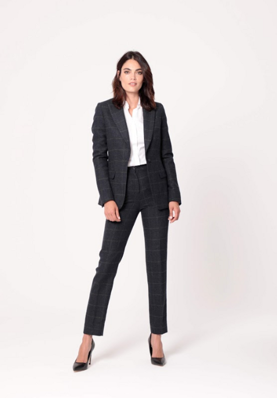 plaid women suit