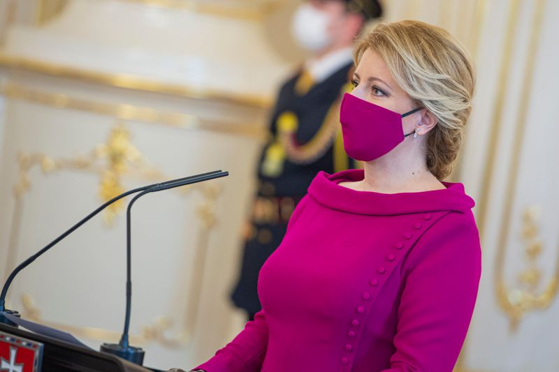 slovak president face mask